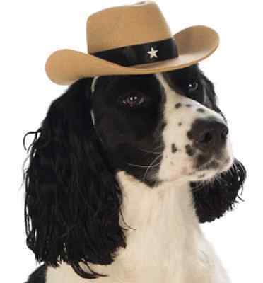Cowboy Hat Western Sheriff Cute Halloween Pet Dog Cat Costume Accessory 4 COLORS](Dog Cowboy Halloween Costumes)