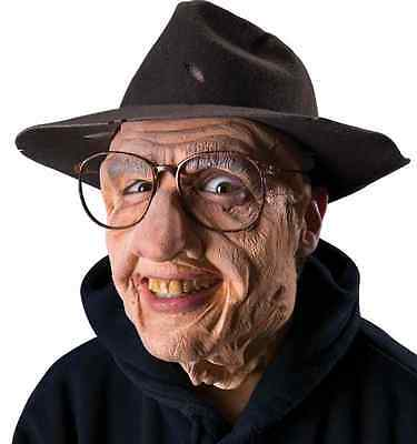 Gramps Old Man Face Mask Fancy Dress Halloween Costume Makeup Latex Prosthetic - Old Man Halloween Costume Makeup