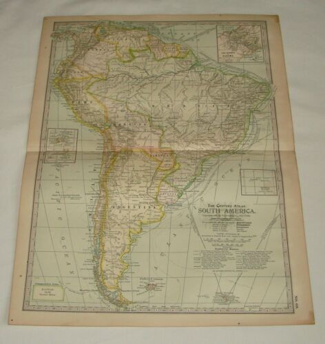 1902 map ~ SOUTH AMERICA