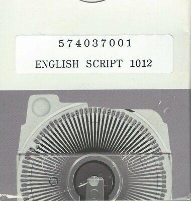 Typewriter Printing Element English Script 1012 Oem Daisy Wheel