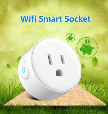 WiFi Smart US Plug Socket for Echo Alexa Google Home Remote Control Switch J4Y2