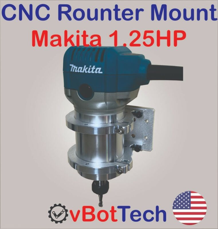 CNC Router/Spindle Mount Clamp Holder Kit for Makita RT0701C 1.25HP - DIY