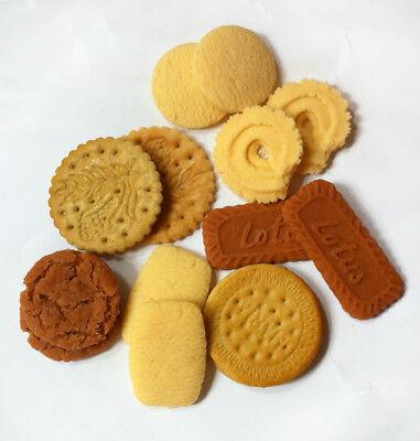 10pcs Fake Danish  Cookies Faux Chocolate Cream Sandwich Cookie Fake Food decor