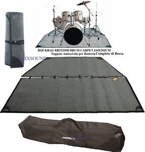 ROCKBAG-RB22200B-Tappeto-antiscivolo-CON-BORSA-per-Batteria-DRUM-CARPET-160-x200