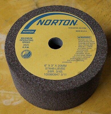 Norton 57a46-l8vbe 105980947 6 X 3 X 20mm Grinding Wheel Cup