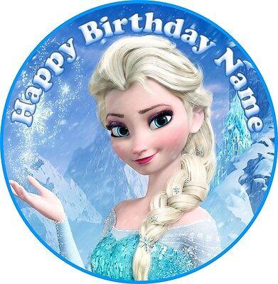 EDIBLE Elsa Disney Frozen Cake Topper Birthday Party Wafer Paper 7.5