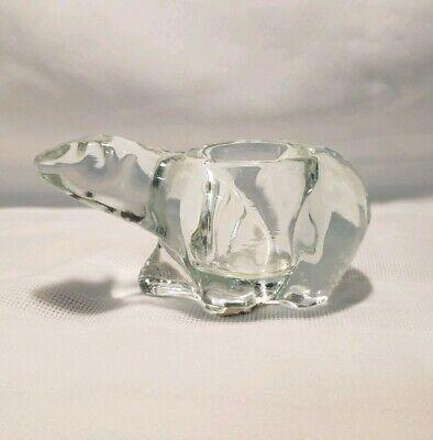 Clear Crystal Polar Bear Votive Candleholder Indiana -