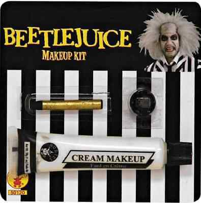 Halloween Makeup Ghost (Beetlejuice Makeup Kit Ghost Zombie Fancy Dress Up Halloween Costume)