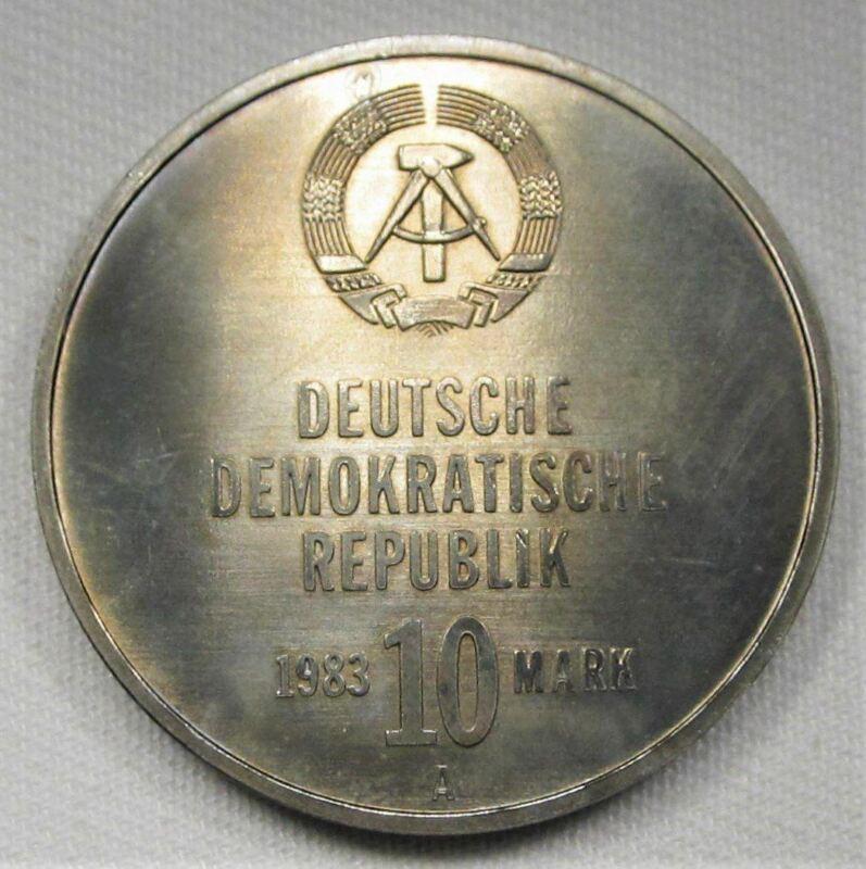 1983-A Germany Democratic Republic 10 Mark GEM++ UNC Coin AD910
