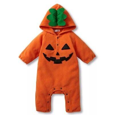 Baby Boy Girls Pumpkin Fleece Bodysuit Costume 1st Halloween Outfit Warm Spider - Spider Girl Bodysuit