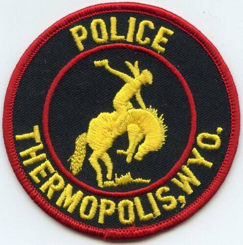THERMOPOLIS WYOMING WY POLICE PATCH
