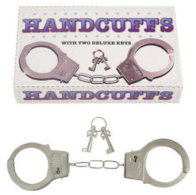 Kids Metal Handcuffs Fancy Dress Hen Stag Do Role Play - Metal Kids Kostüm