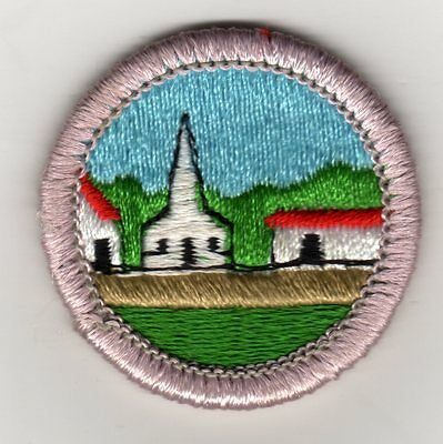 Citizenship in the Community Merit Badge Type H, Plastic Back (1973-2002), (Boy Scout Merit Badge Citizenship In The Community)