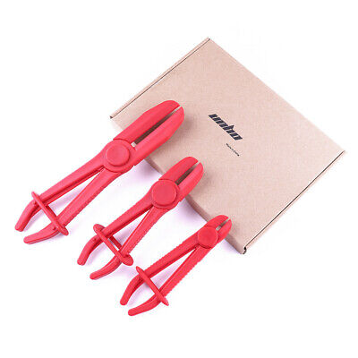 3 Size  Red Hose Clamp Set Pipe Pliers Clamping Tool Radiator Brake Hoses Fuel