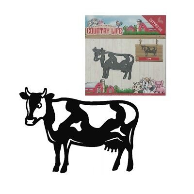 Cow metal craft die Country Life cutting dies Yvonne Creations Farm Animals