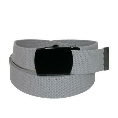 New CTM Fabric Big & Tall Adjustable Belt with Black Buckle ()
