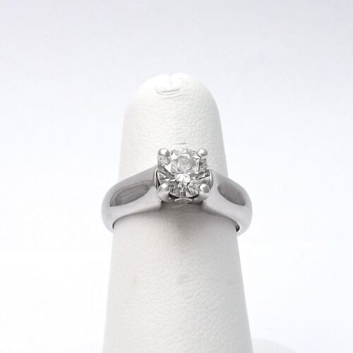14k White Gold 1.17ct Round Solitaire Diamond Engagement Ring Sz 6 Appraisal