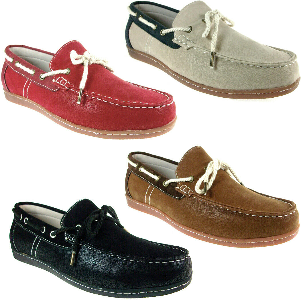 New Men's Husk Casual Lace Up Moccasins Driving Mocs Beach Boat Loafers Shoes