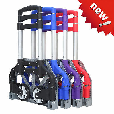 170lbs Aluminium Cart Folding Dolly Push Truck Hand Collapsible Trolley Luggageo