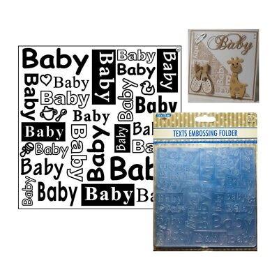 Baby Words Embossing Folder Nellie Snellen Square Folders DCTXT004 Phrases