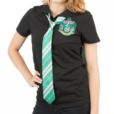 Harry Potter Slytherin Cape T Polo Neck Tie Halloween costume uniform NIP Shirt](Halloween Harry Potter Costume Tie)