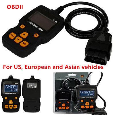 Portable VS890S OBDII OBD2 Car Code Reader Support Multi-Brands Cars 2017