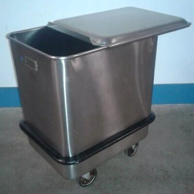 Seco Commercial Stainless Steel Food Safe Flour Ingredient Rolling Bin.