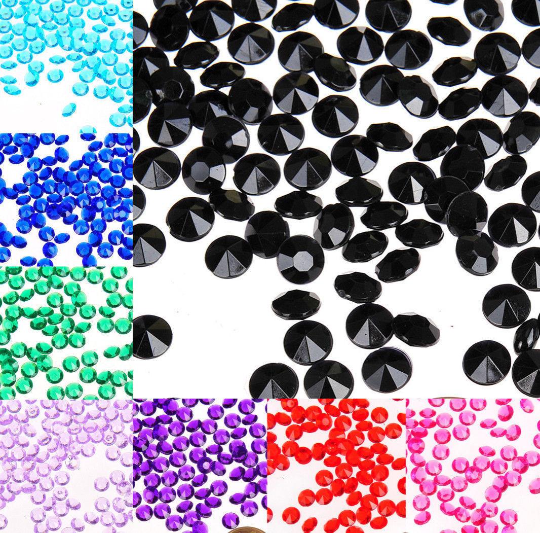 1000pcs 4.2mm Acrylic Crystal Diamond Table Confetti Wedding