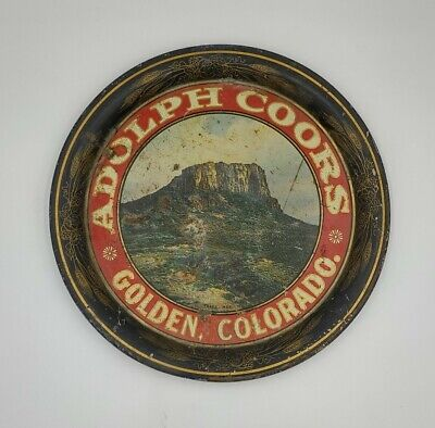 Antique Adolph Coors Golden Colorado Beer Tray Pre Prohibition 1900-1910