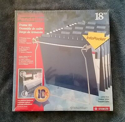 Pendaflex Frame Kit 12 Hanging Folders Metal Adjustable File Frame Kit 18559 18