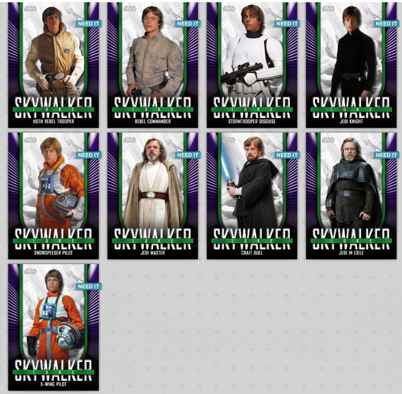 Topps Star Wars Digital Card Trader 10 Card Green Wood Posters 2 Wave 1 Set