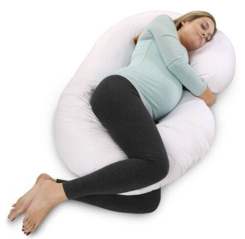 PharMeDoc Pregnancy Pillow with White Cover - C Shaped Body
