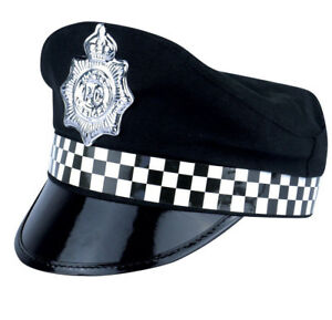 651e5c2661f Policeman Cap Peak Police Cop Hat For Adult Fancy Dress Costume Accessory
