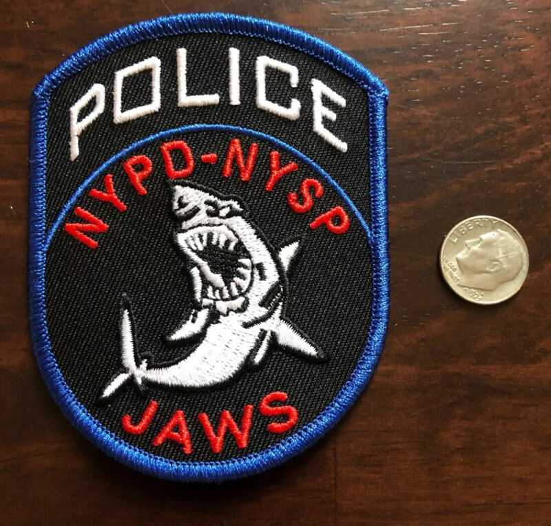 NEW YORK NYSP JAWS POLICE  patch