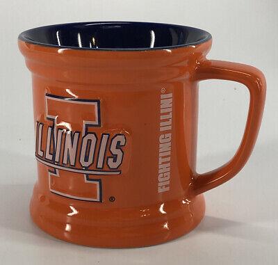 Illinois Fighting Illini University Of Illinois Embossed Coffee Mug Cup -