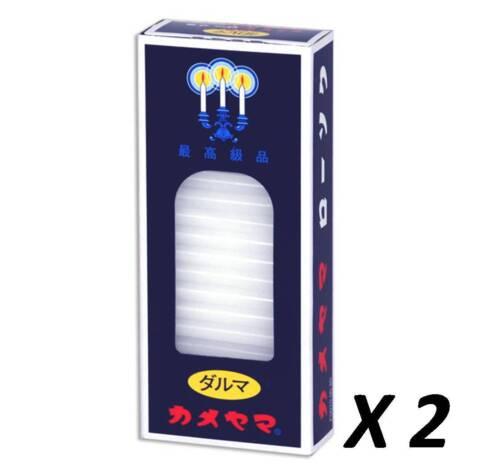 "2-Pkg Japanese Daruma Candles 2""L 80 Sticks Buddhist Butsudan/ E3000"