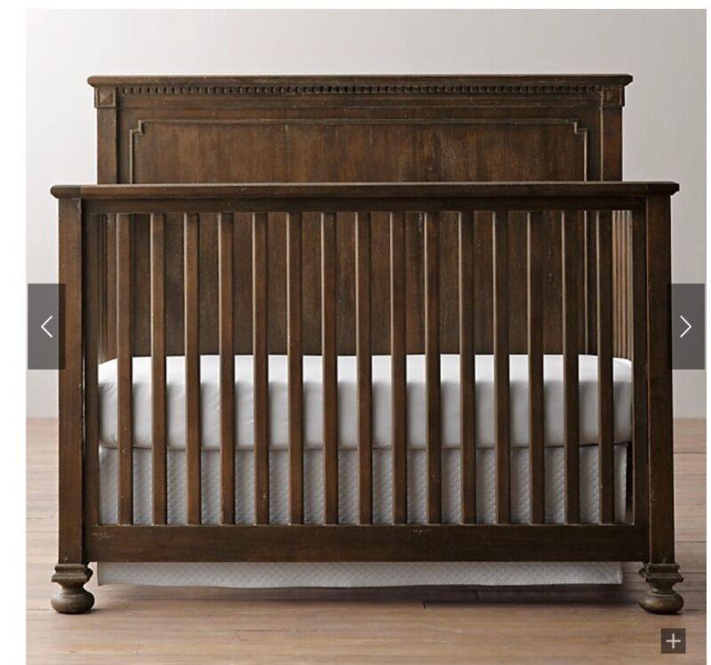 Restoration Harware Jameson Conversion Crib With Mattress