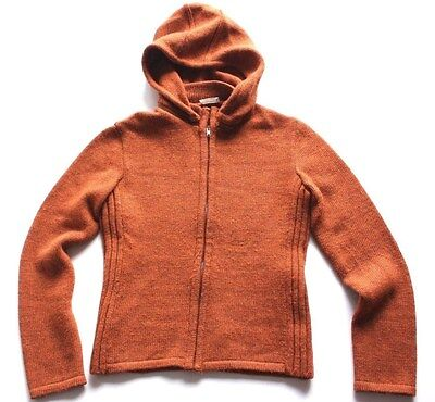 Philosophy di alberta ferretti Womens Cardigan Sweater HEAVY WOOL hoodie ITALY
