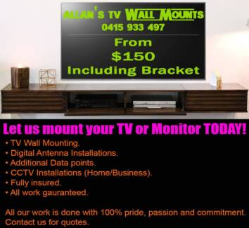 Allan's TV Wall Mounts Including Bracket From $150