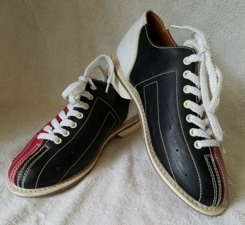 Vintage Leather Amf Bowling Lane Shoes Red Black White Unisole Mens Size 6