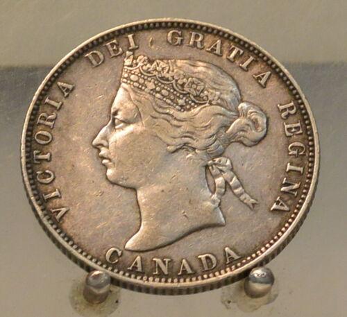 1871 H Canada Silver Quarter