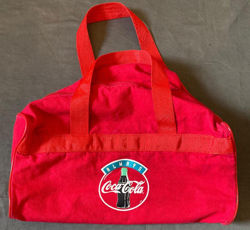 "Vintage Always Coca Cola Duffle Sport Gym Bag 12"" Tall X 24"" Wide"
