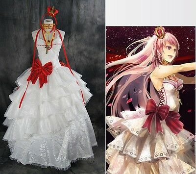 a-320 VOCALOID Luka Cosplay Gothic Kostüm dress costume Abend-Kleid nach (Vocaloid Cosplay Kostüme)