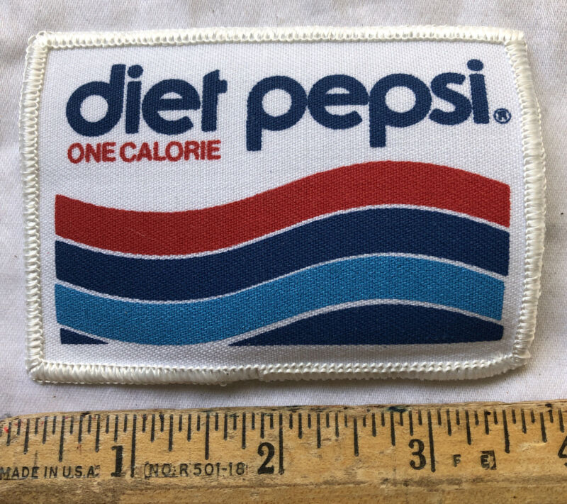 Vintage Diet Pepsi One Calorie Cola Soda Pop Embroidered Patch Old Logo Iron On