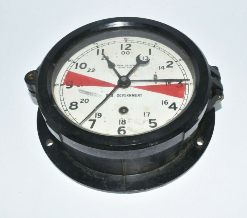 Vintage Bakelite Chelsea Clock Boston US Government Working Maritime Navy