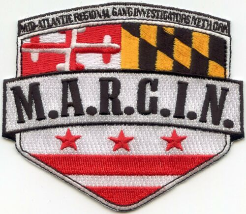 MARYLAND MD STATE MID ATLANTIC REGIONAL GANG INVESTIGATORS SHERIFF POLICE PATCH