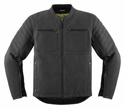 ICON 1000 AXYS Leather Motorcycle Jacket (Black) XL (X-Large)