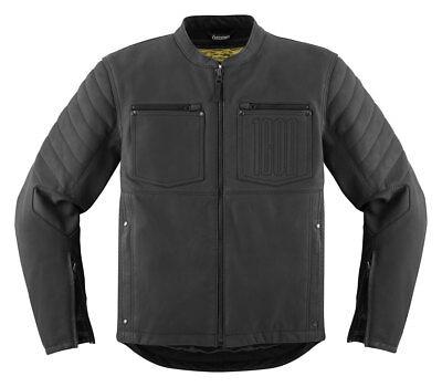 ICON 1000 AXYS Leather Motorcycle Jacket (Black) Choose Size