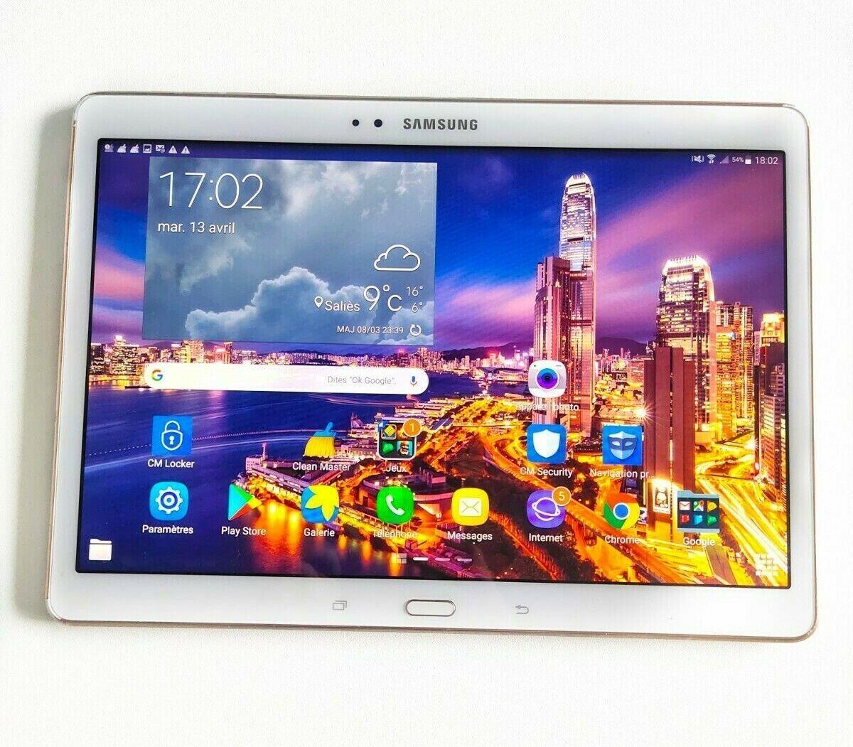 Samsung galaxy tab s - 4 g 32 go wifi android blanc tablette - avec port sim