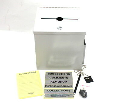 Buddy Products Bdy562032 Buddy Recycled Steel Suggestion Box With Locking Top